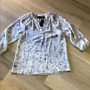 NWT Cynthia Rowley 3/4 sleeve blouse, size small